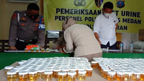 Personel Polrestabes Medan Dites Urine, 1 Positif Sabu dan Ekstasi