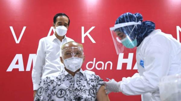 Jokowi Ingin Indonesia Bebas Covid-19, Minta Rakyat Dukung Vaksinasi