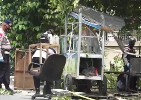 Ledakan Keras Diduga Bom Terjadi di Banda Aceh Hancurkan Gerobak, Warga Panik