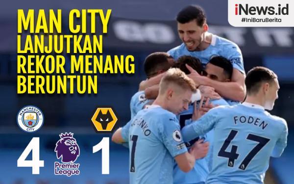 Infografis Man City Lanjutkan Rekor 21 Kemenangan Beruntun