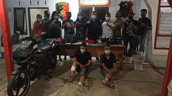 Polisi Tangkap 2 Rampok Uang Ratusan Juta Milik Nasabah Bank di Pangkalpinang