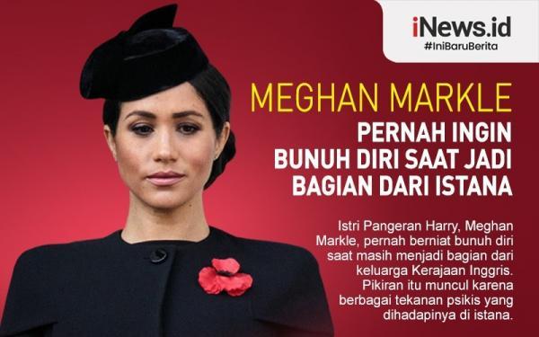 Infografis Meghan Markle Mengaku Pernah Ingin Bunuh Diri saat di Istana Inggris