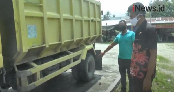 Video Istri Tewas Terlindas Truk yang Ditumpangi Suami di Padang
