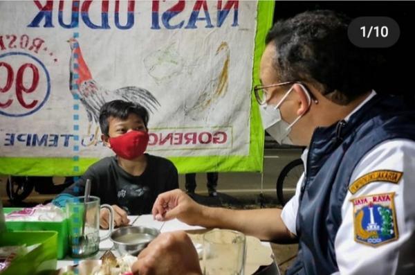 Anies Kagum dengan Bocah 14 Tahun Pelayan Warung Pecel ...