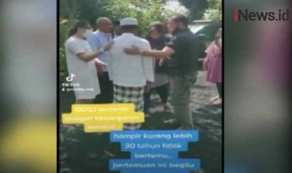 30 Tahun Berpisah, Kakek Sebatang Kara Kembali Bertemu Keluarga di Probolinggo