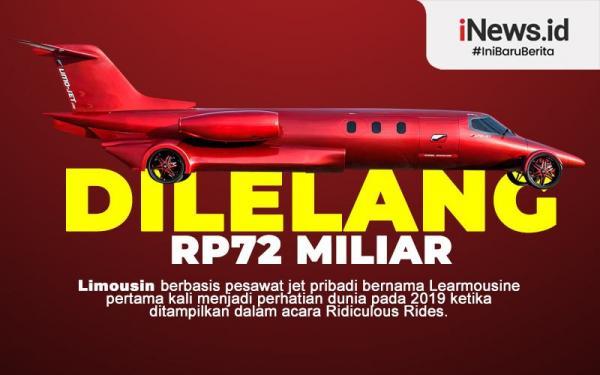 Infografis Limousin Berbentuk Jet Pribadi Dilelang Rp72 Miliar