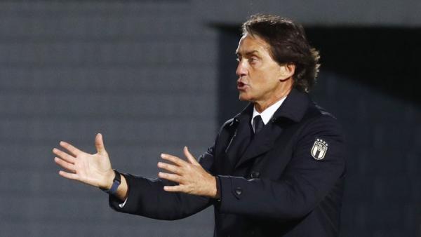 Italia Kalahkan Lithuania, Roberto Mancini Masih Marah-Marah
