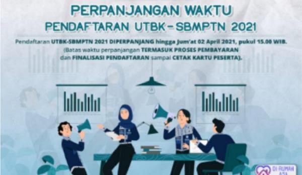 Pendaftaran UTBK SBMPTN 2021 Diperpanjang hingga 2 April