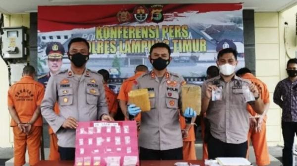 Gelar Operasi Antik Krakatau, Polisi Tangkap 44 Orang di Lampung Timur