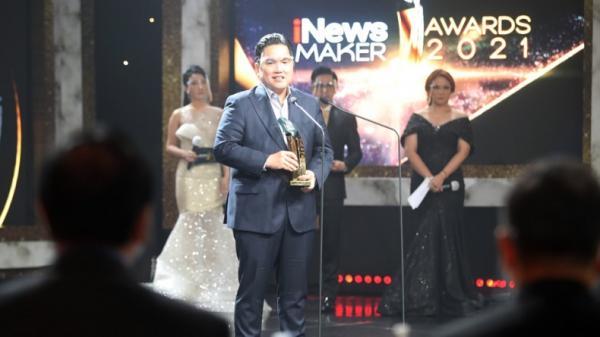 Menteri BUMN Erick Thohir, Kementerian, Lembaga dan Perusahaan Terima Penghargaan iNews Maker Awards 2021