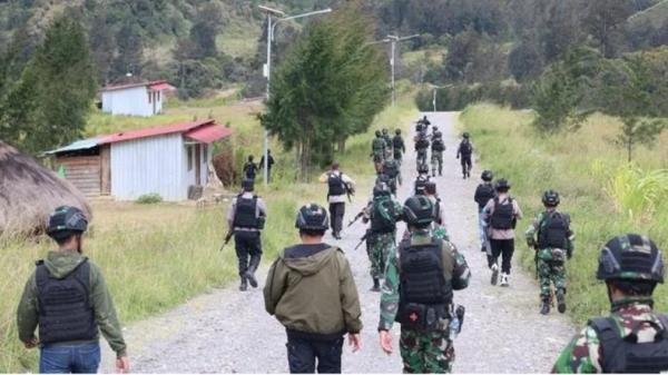 2 Markas Teroris KKB Dikuasai TNI Polri usai Penyerangan Kelompok Lekagak Telenggen