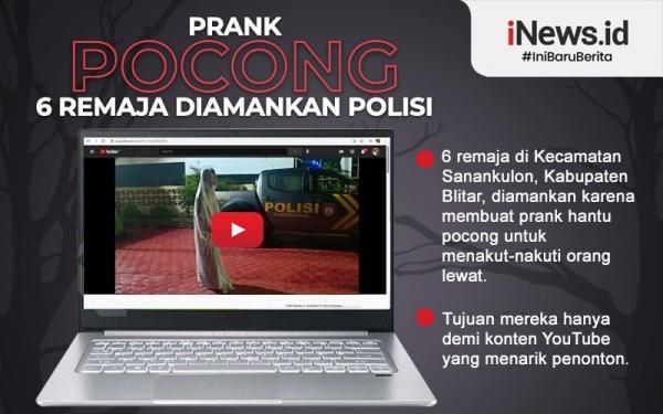 Infografis 6 Remaja Diamankan Polisi karena Bikin Prank Pocong
