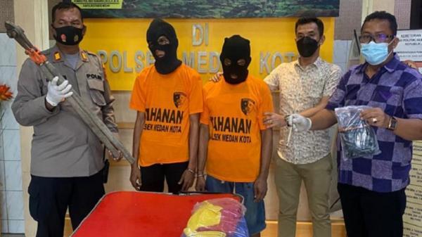 2 Pembobol Toko di Medan Ditangkap, 1 di Antaranya Ditembak karena Berusaha Kabur