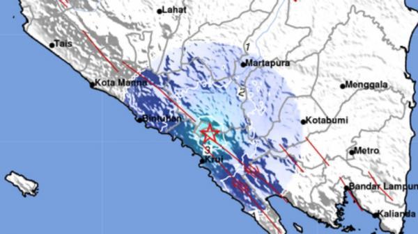 Gempa M 4,4 Guncang Lampung Barat