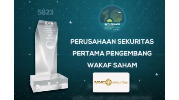 Perusahaan Sekuritas Pertama Pengembang Wakaf Saham, MNC Sekuritas Raih Penghargaan BEI!
