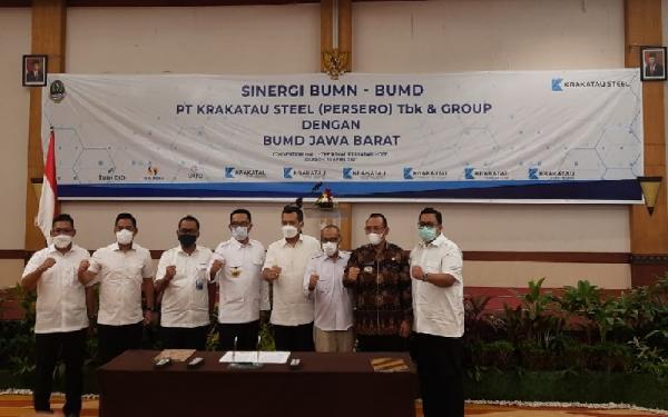 Ridwan Kamil dan 3 Pimpinan BUMD Jabar Jajaki Kerja Sama dengan Krakatau Steel