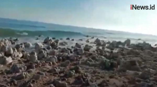 Video Kemunculan Pulau Baru usai Badai Seroja di NTT