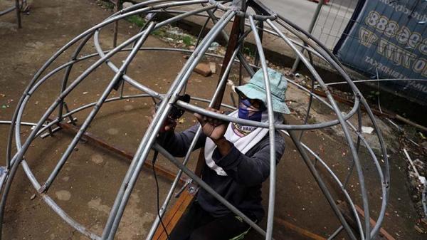 Begini Proses Pembuatan Kubah Masjid