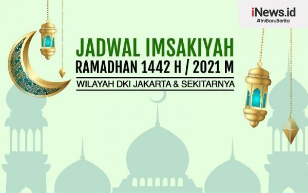 Infografis Jadwal Imsak Jakarta Senin 19 April 2021