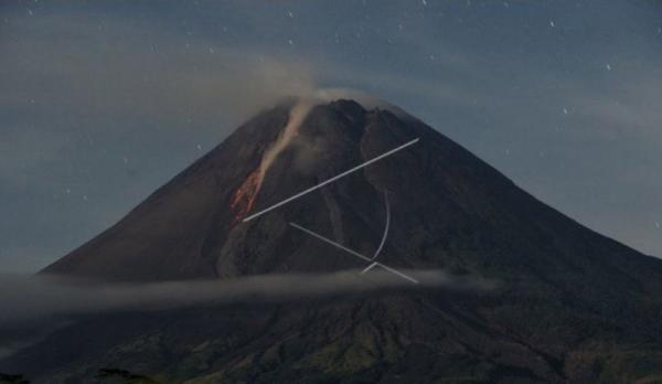 Volume Kubah Lava di Tengah Kawah Puncak Merapi Capai 1,68 Juta Meter Kubik