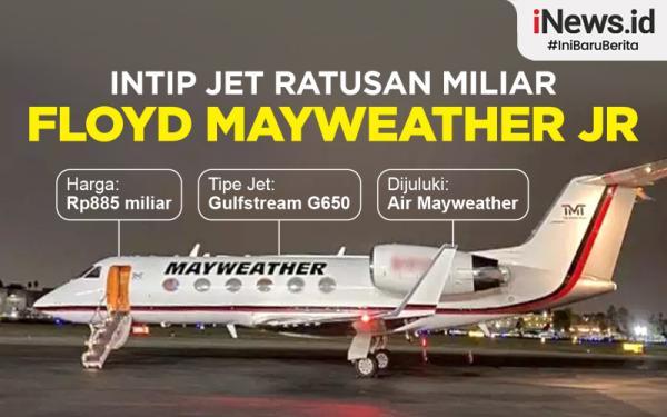 Infografis Jet Mewah Floyd Mayweather Jr yang Pernah Mampir ke Indonesia