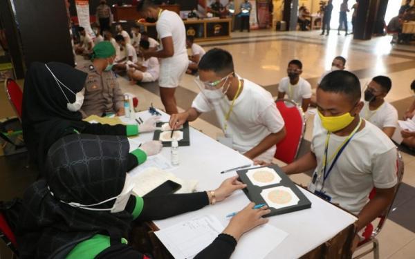148 Peserta Seleksi Anggota Polri Polres Banjarbaru Tes Kesehatan Tahap 1 di Polda Kalsel