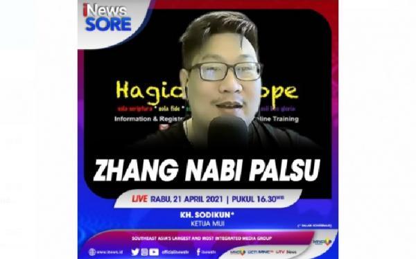 Nabi Palsu Paul Zhang, Saksikan Selengkapnya di iNews Sore Rabu Pukul 16.30 WIB