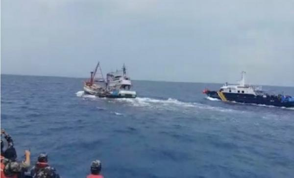 Kejar-Kejaran di Laut Natuna, Kapal Vietnam Pencuri Ikan Digiring ke Pontianak