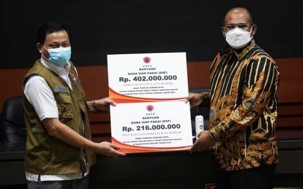 Pemprov Kalsel Terima Bantuan Dana Tunggu Hunian Pascabanjir Rp618 Juta dari BNPB