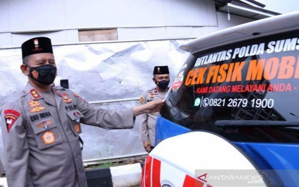Polda Sumsel Sediakan Layanan Cek Fisik Kendaraan Keliling