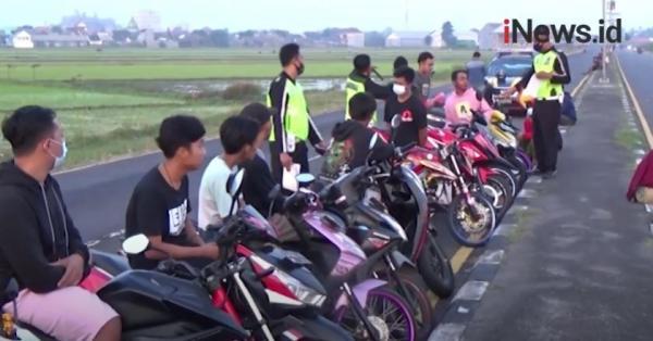 Video Razia Aksi Balap Liar dan Knalpot Bising di Jombang
