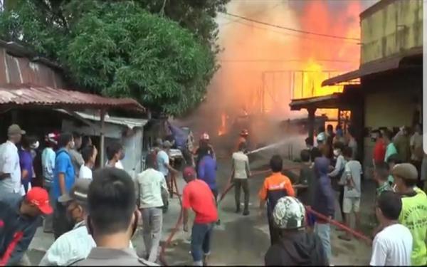 Belasan Rumah di Sibolga Terbakar, Diduga Gegera Kompor Meleduk