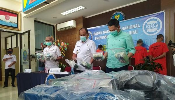 BNNP Kepri Gagalkan Penyelundupan 20 Kilogram Sabu Sepanjang April 2021