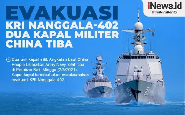 Infografis Kapal China Evakuasi KRI Nanggala