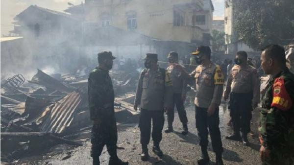 Polisi Selidiki Penyebab Kebakaran di Sibolga, 12 Rumah Ludes Dilalap Api