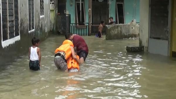 Sungai Deli Meluap, Kelurahan Sei Mati Medan Terendam Air