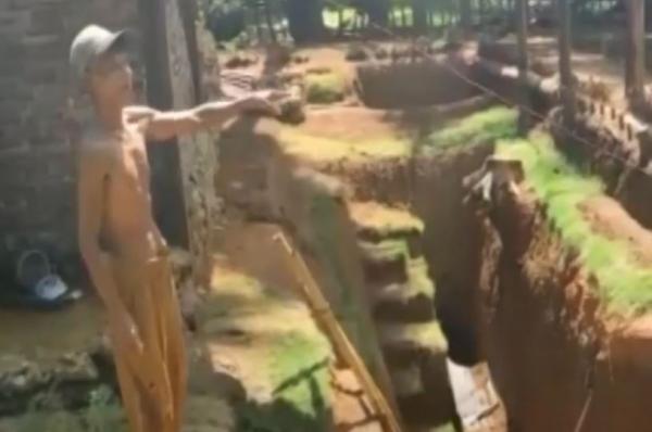 Video Kakek di Bone Bangun Rumah Bawah Tanah