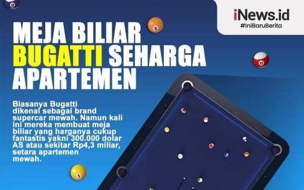 Infografis Meja Biliar Bugatti Berharga Rp4,3 Miliar