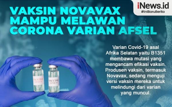 Vaksin Novavax Disebut Ampuh Lawan Covid Varian Afsel