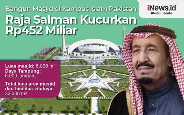 Infografis Raja Salman Bangun Masjid Megah di Kampus Islam Pakistan