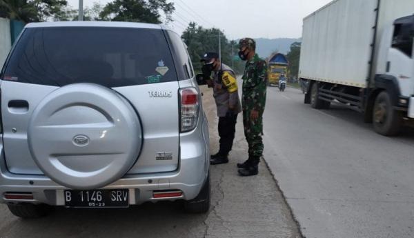 20 Kendaraan Lintasi Pos Penyekatan di Lampung, 8 Diputar Balik