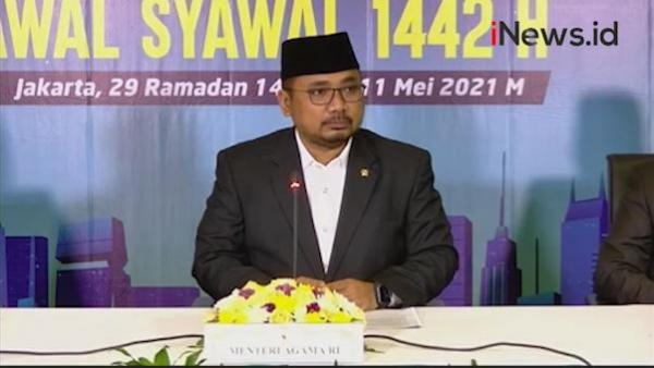 Video Pemerintah Tetapkan Idul Fitri 1442 H Jatuh Kamis 13 Mei 2021