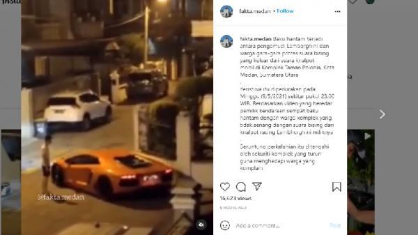 Video Viral, Pemilik Lamborghini Ribut dengan Warga Gegara Geber-Geber Knalpot Bising