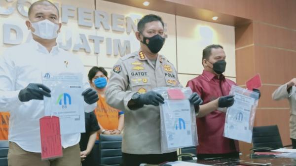 Komplotan Pemalsu Surat Rapid Test Covid-19 Ditangkap di Sidoarjo