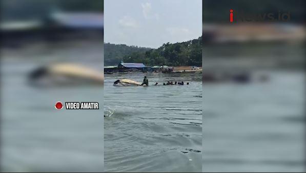 Video Perahu Wisata di Waduk Kedung Ombo Boyolali Terbalik, 9 Orang Hilang