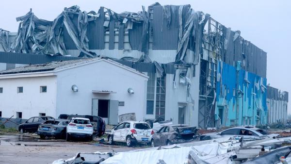 Tornado Terjang 2 Wilayah di China, 12 Orang Tewas