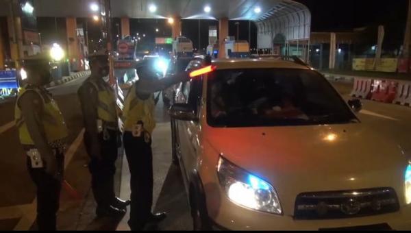 Arus Balik Lebaran, Ratusan Kendaraan Diputar Balik di Gerbang Tol Pejagan Brebes