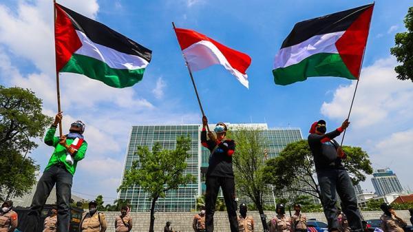 Aksi Solidaritas untuk Palestina, Buruh Datangi Kedutaan Besar AS