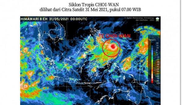 Ini Wilayah Indonesia yang Berpotensi Terdampak Siklon Tropis Choi-Wan