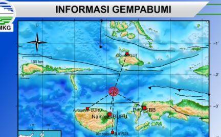 BMKG: Gempa Hari Ini 4 Kali Guncang Maluku, Tidak Berpotensi Tsunami